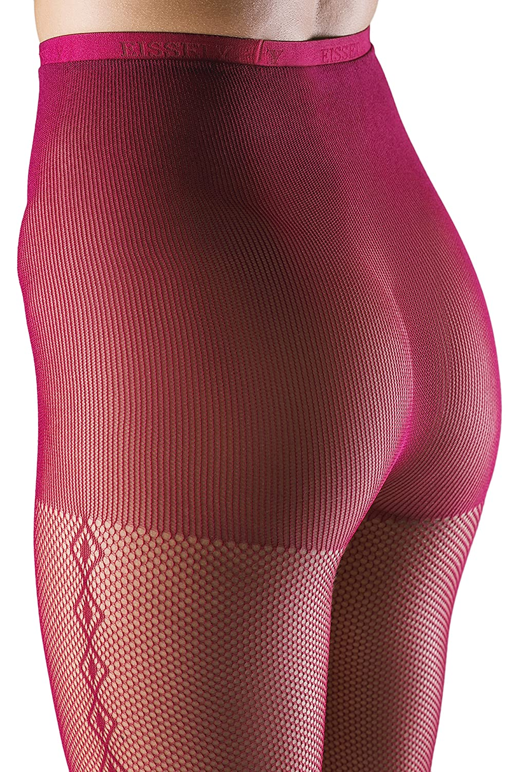5a9269ec80c4c Fishnet Pantyhose High Waist Control Top Sheer Mesh Tights With Side Seam  Pattern (Small/Medium, Crimson Red) at Amazon Women's Clothing store: