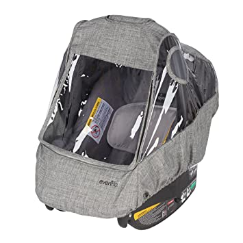 Evenflo Infant Car Seat Weather Shield And Rain Cover Grey Melange