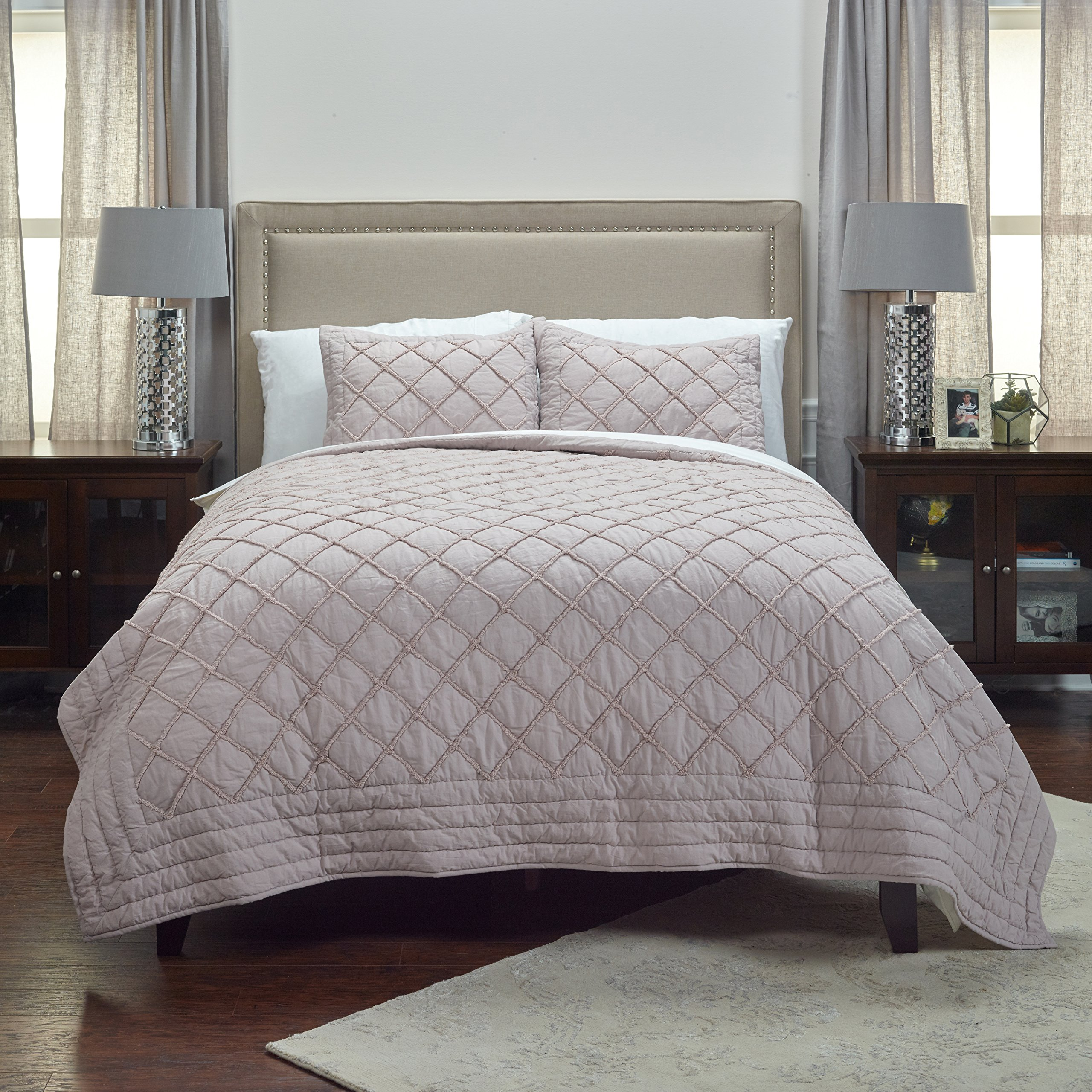 Rizzy Home QLTBQ4235BS001692 Quilt, Blossom, King