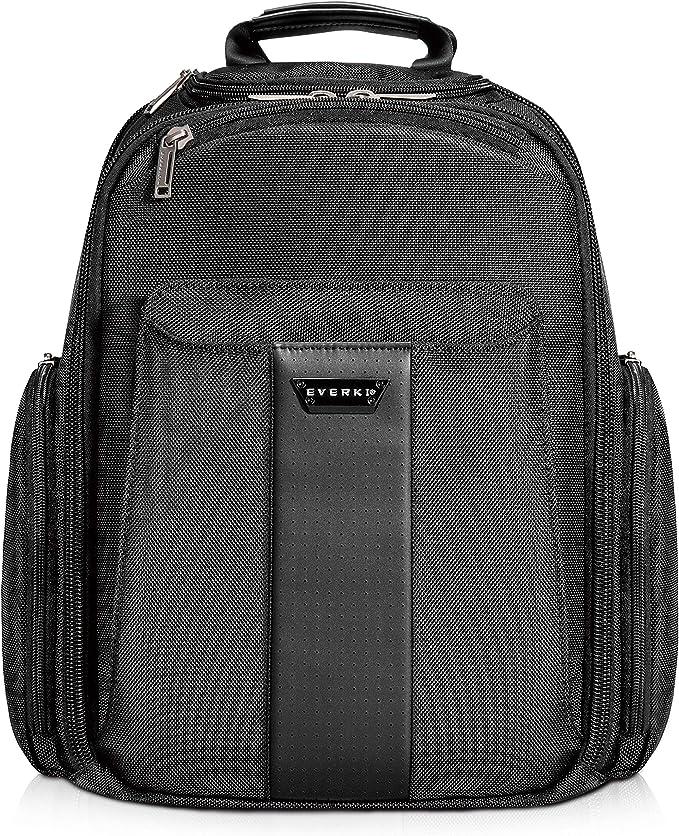 Everki Versa Premium Laptop Rucksack Für Notebooks Bis 14 1 Zoll 35 8 Cm Macbook Pro 15 Zoll Mit Patentiertem Ecken Schutz System Schwarz Bekleidung