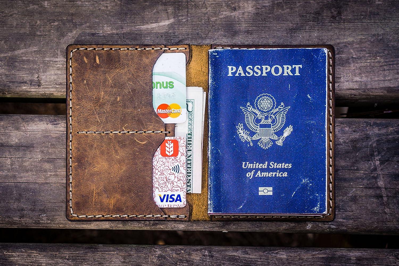 NO.06 Leather Passport Wallet -Crazy Horse Brown