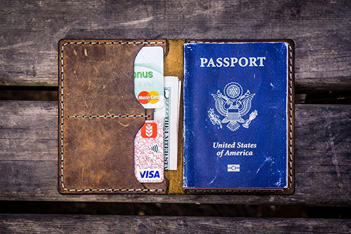 4c3460ad642 Amazon.com  NO.06 Leather Passport Wallet -Crazy Horse Brown  Handmade
