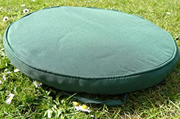 uk gardens 38cm green round bistro garden furniture chair cushion
