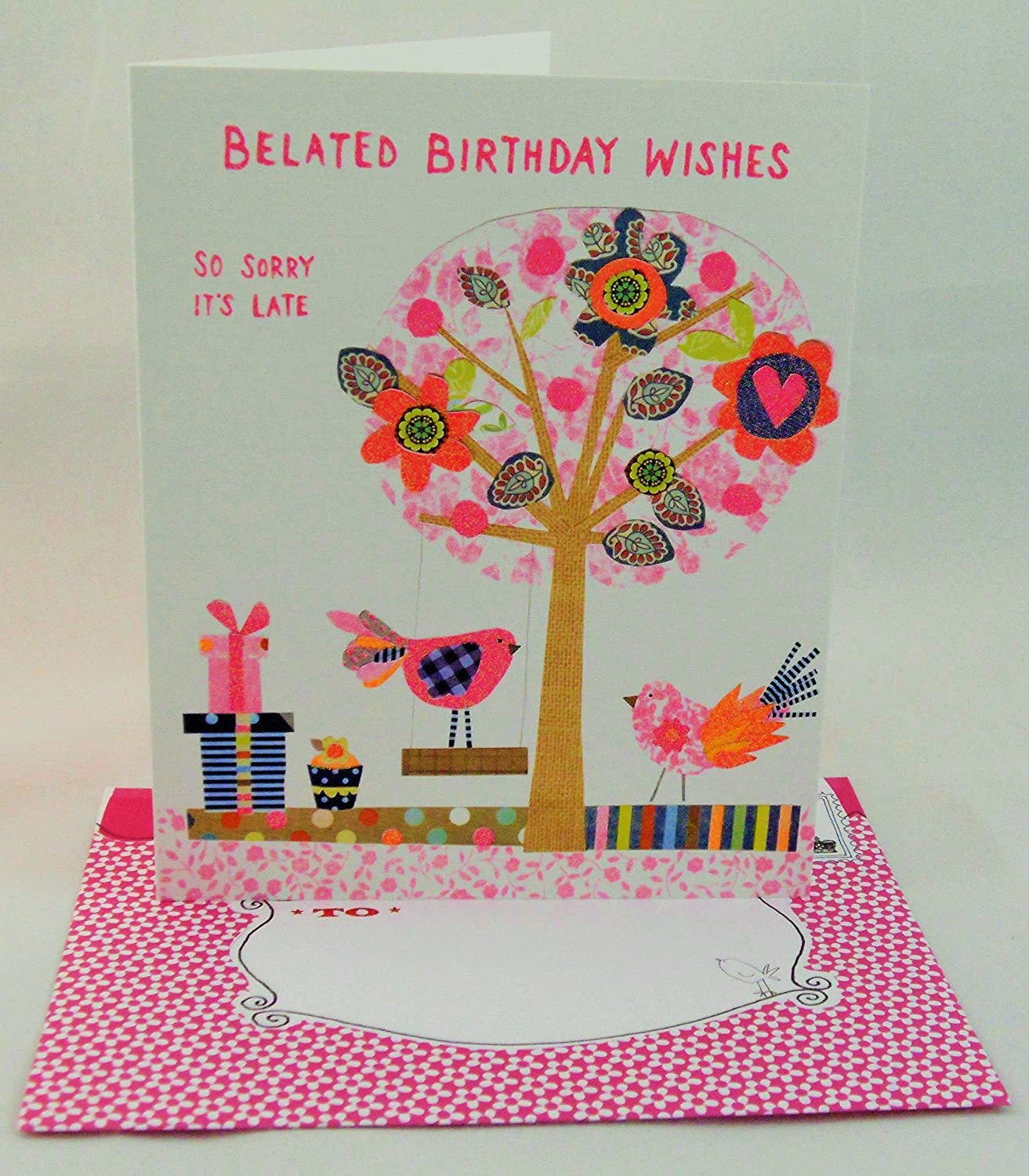 Paper Salad Belated Birthday Wishes Birds Birthday Card Amazon