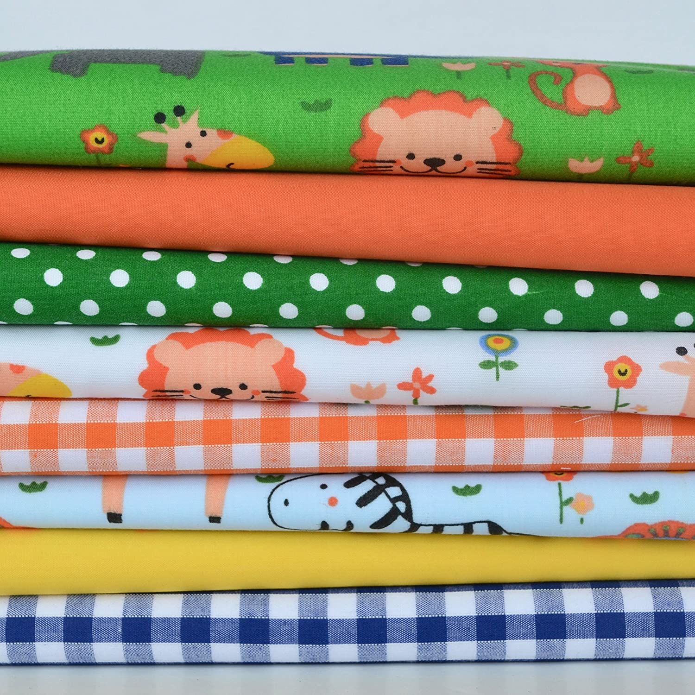 Lemon 100/% Poplin Cotton Fabric with Multi Elephant Print Animal Zoo Per Metre