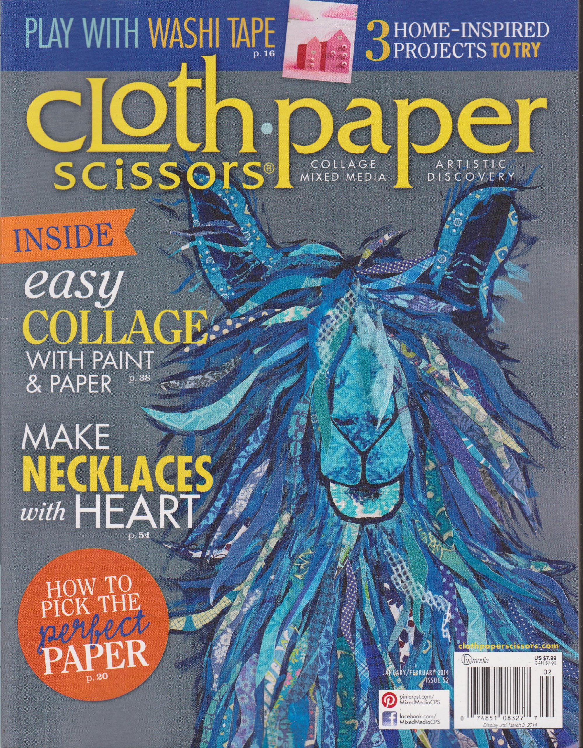 Download Cloth Paper Scissors Magazine January/February 2014 pdf epub