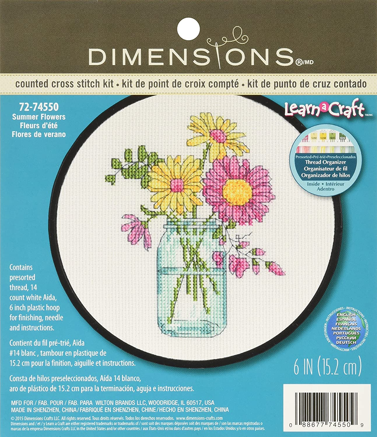 Counted Cross Stitch Kit FLORAL PORTRAIT Dimensions New Release!