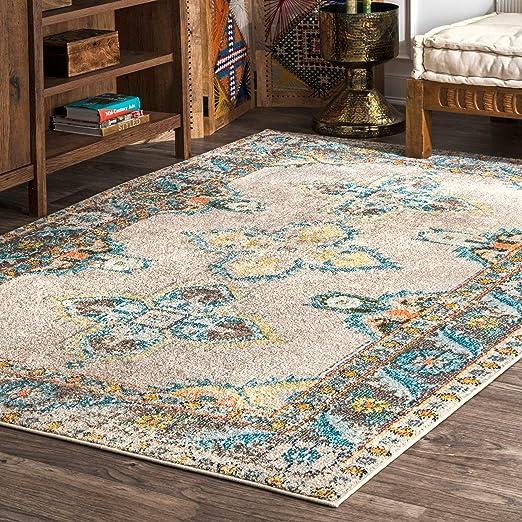 6 6 2 6 x 8 6 Blue nuLOOM Reiko Vintage Persian Runner Rug