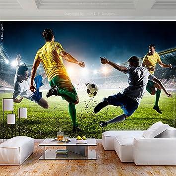 decomonkey Fototapete Fußball 400x280 cm XL Tapete ...