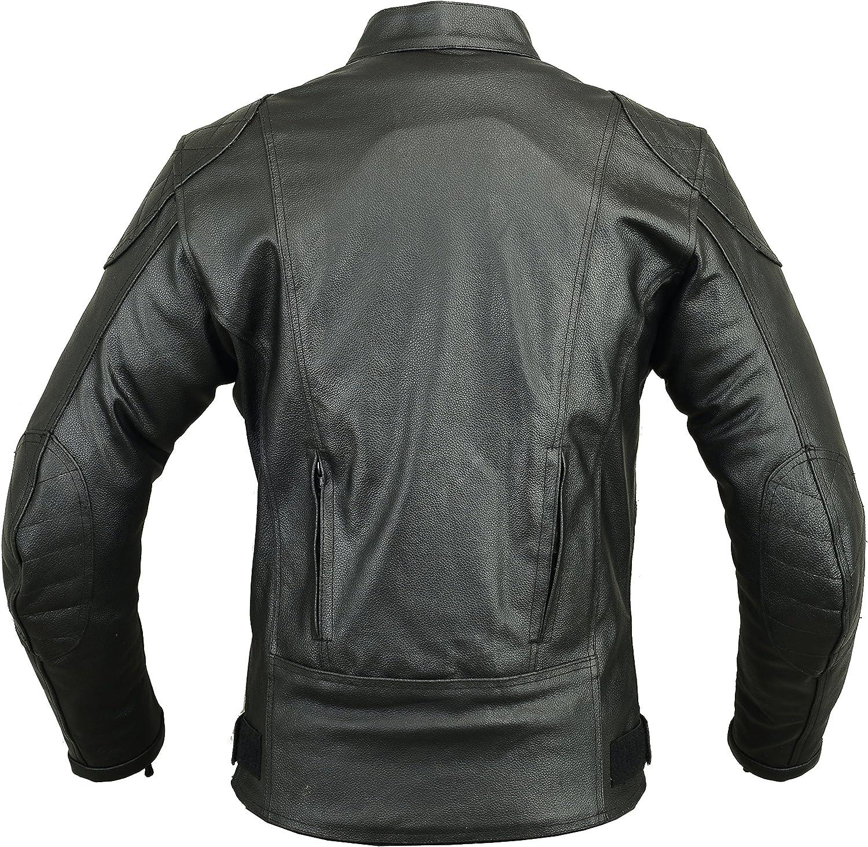 Black M Batman Leather Motorbike Protective Jacket
