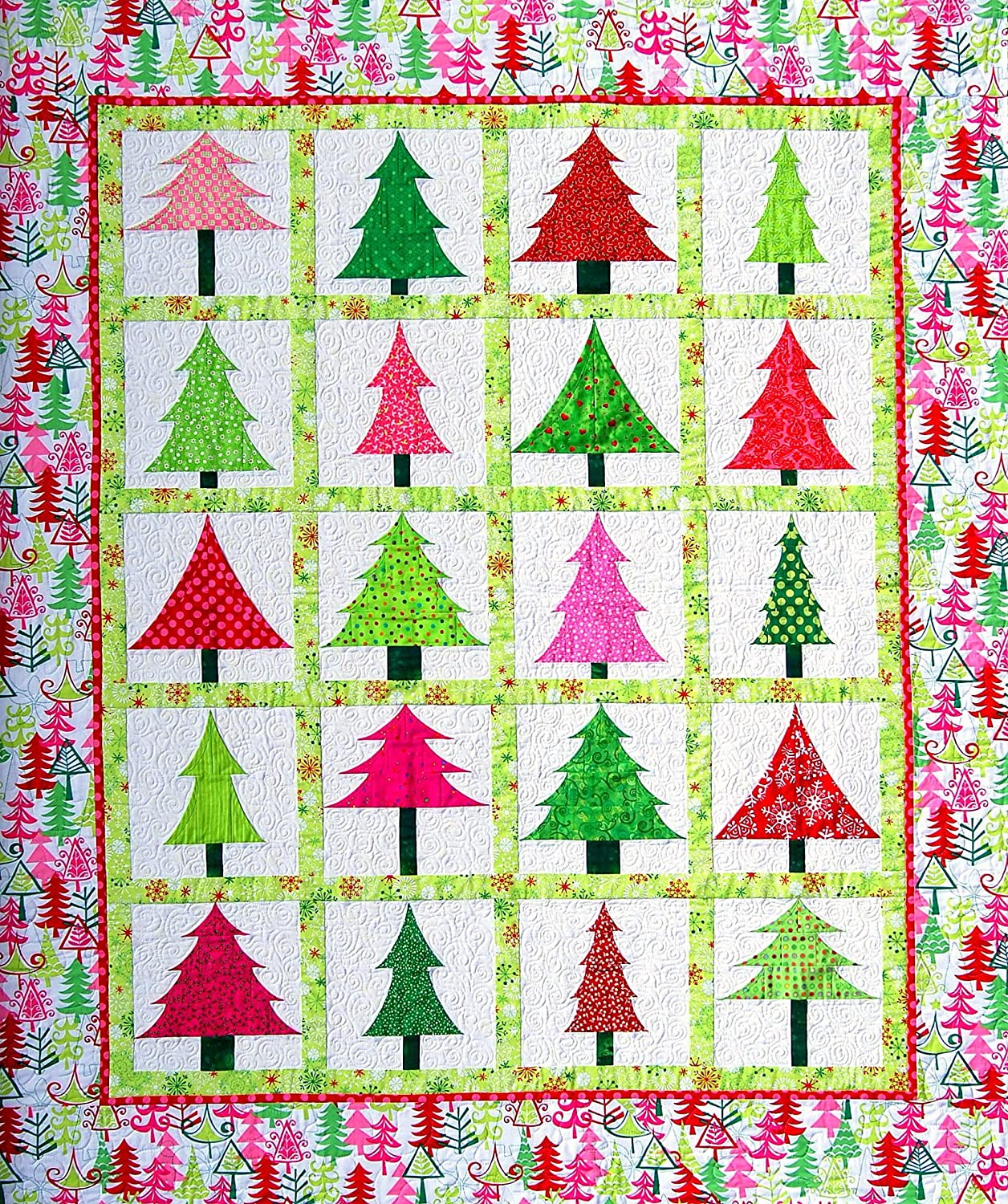 Happy Stash Quilts Spring Into Christmas Quilt Pattern 852668679537