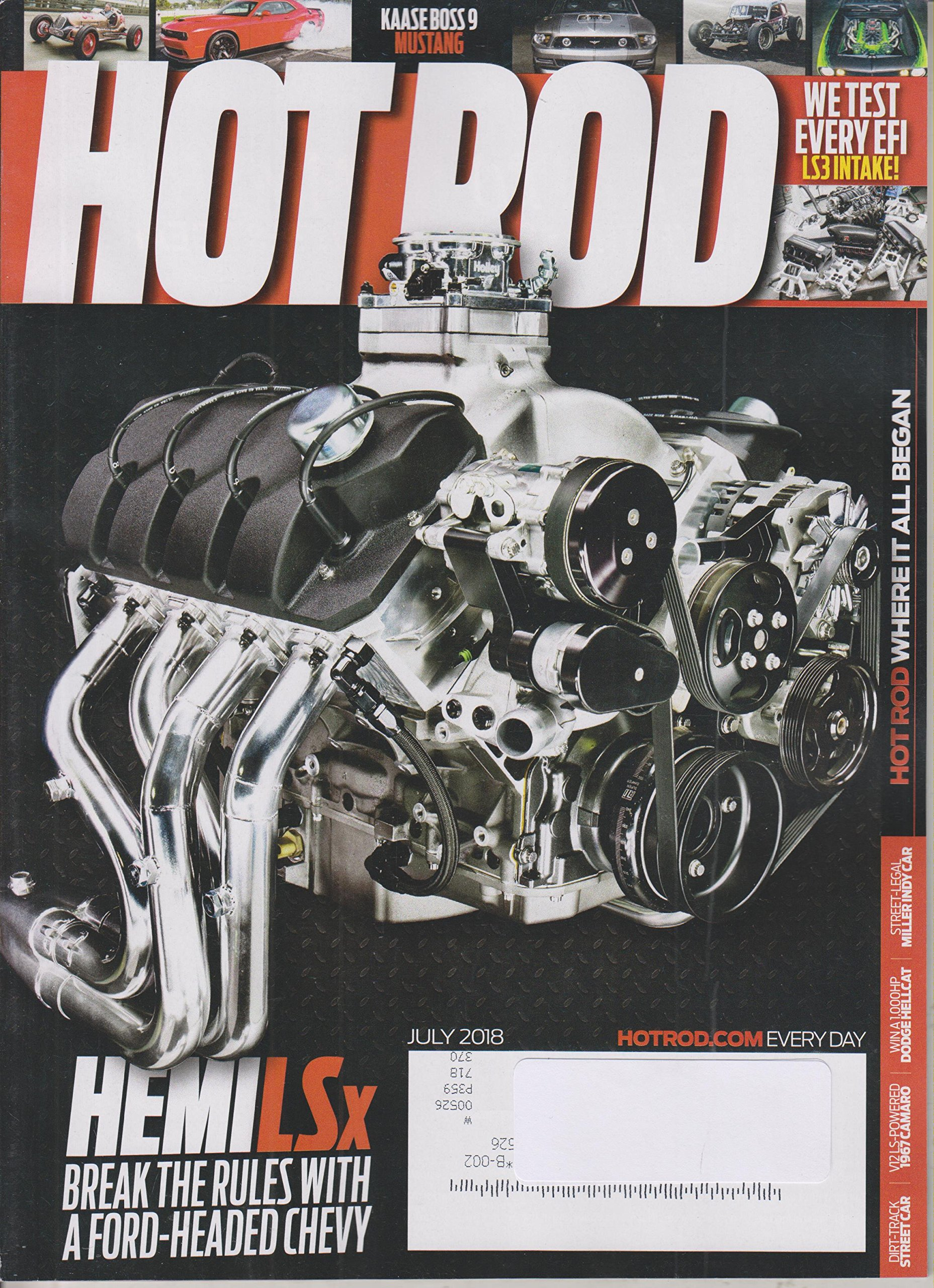 Download Hot Rod July 2018 Hemi LSx Break The Rules with A Ford-Headed Chevy ebook