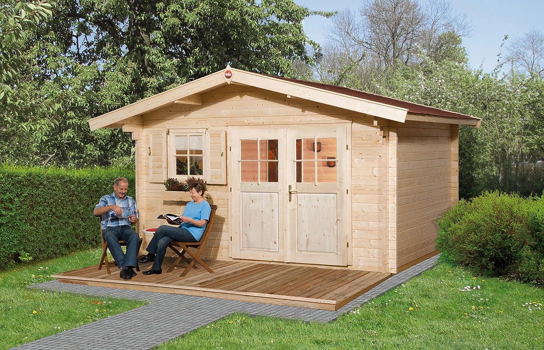 Weka Gartenhaus 136 Gr. 2 Vordach 60 cm