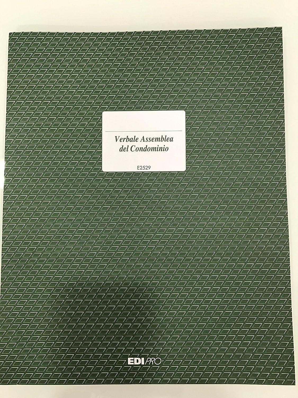 EdiPro Verbali assemblea cond. E2529 100 pag. - Confezione da 10 Verbali