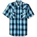 ELY CATTLEMAN Men's Short Sleeve Plaid Western Shirt