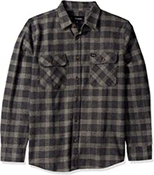 Brixton Mens Bowery Standard Fit Long Sleeve Flannel Shirt