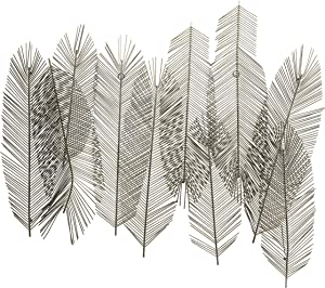 Scott Living Luxe Metal Leaf Wall Décor, 41 inch, Silver