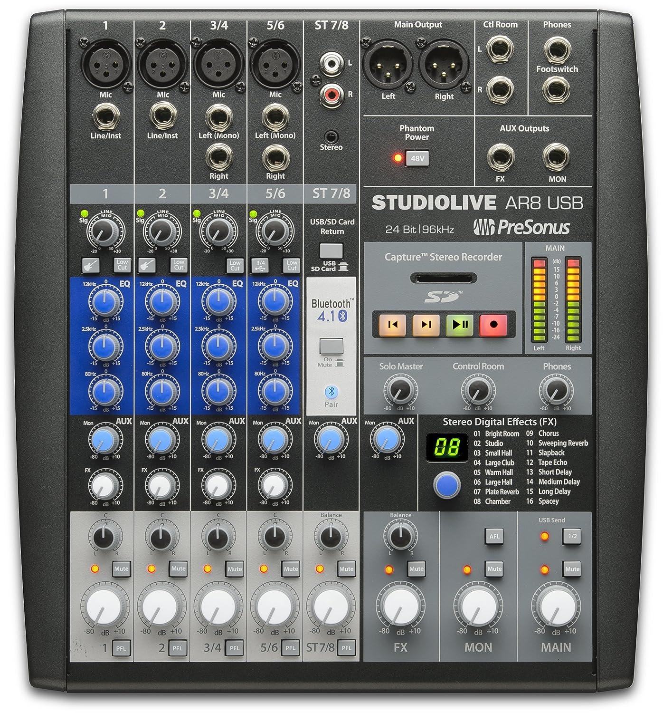 amazon com presonus studiolive ar8 usb 8 channel hybrid performance rh amazon com