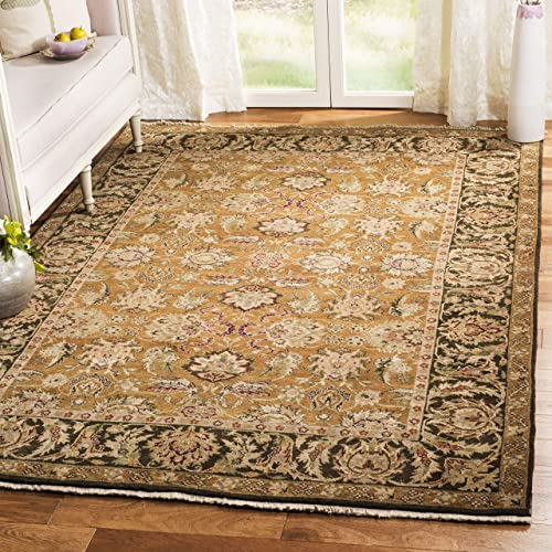 Safavieh Old World Collection OW115D Hand-Knotted Traditional Oriental Gold and Green Wool Area Rug 9' x 12'