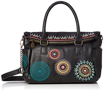 f1ab2b707d8 Desigual Siara Loverty Shoulder Bag Negro  Amazon.es  Zapatos y complementos