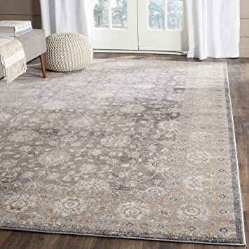 Safavieh Sofia Collection SOF330B Vintage Light Grey And Beige Distressed Area Rug 67quot