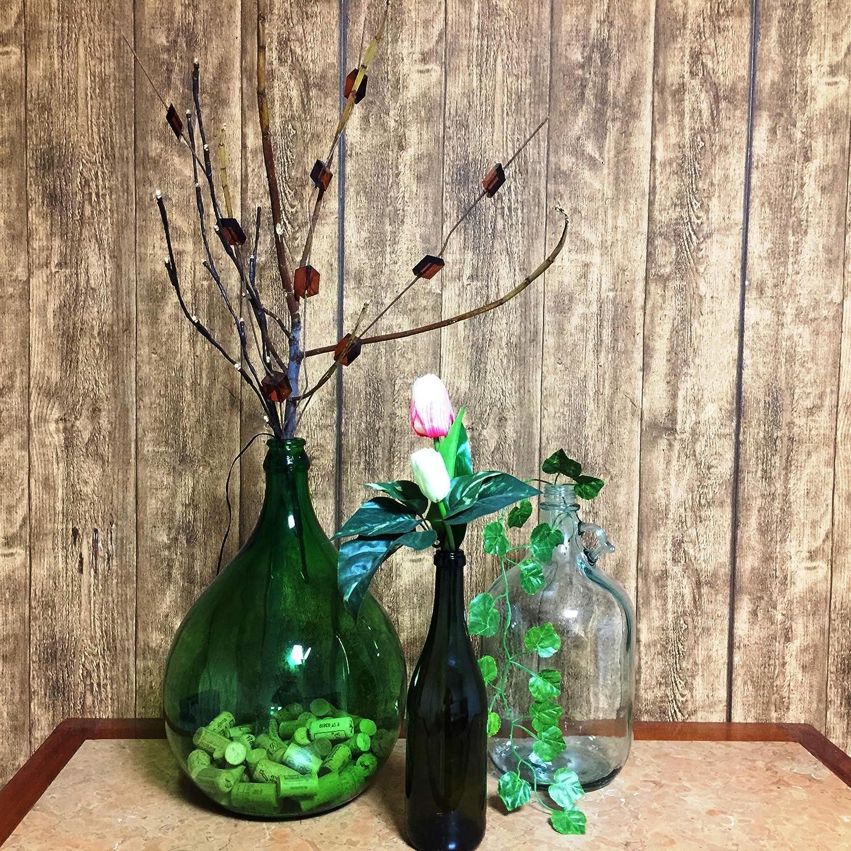 La favola encantado® – Juego de 3 botellas Cristal Fancy Fades verdes Country Shabby Chic Vintage con decoración floral compresa decorativo artesanal decorado a mano Handmade de Italia: Amazon.es: Hogar