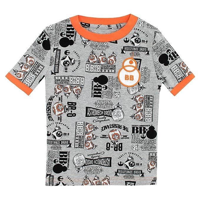 Star Wars Pijamas de manga corta para Niños BB8 Ajuste Ceñido: Amazon.es: Ropa y accesorios