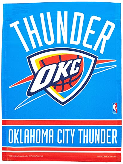 buy popular f86fa 81aa4 Wincraft NBA Oklahoma City Thunder Garden Flag 12x18, 2 Sided, Team Color