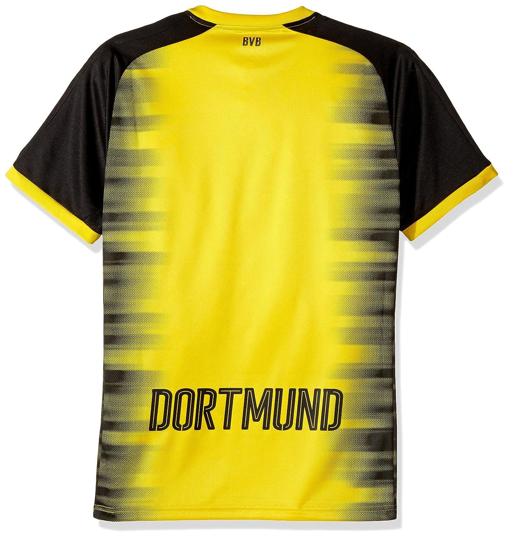 74fc0d3c0b89 PUMA Men s Bvb Borussia Dortmund Int l Replica Shirt with Sponsor Logo at  Amazon Men s Clothing store
