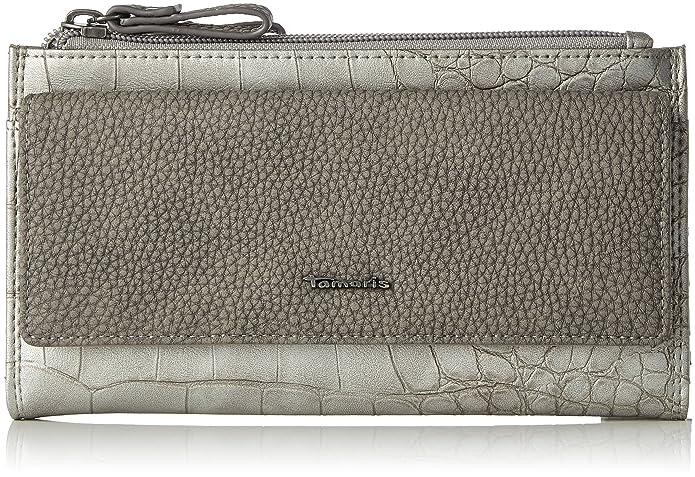 Tamaris Daisy Big Snap Wallet, Portefeuilles femme, Silber (Silver Comb), 3.5x11x20 cm (B x H T)