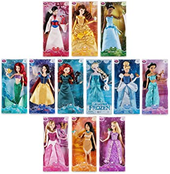 Disney Store Princess Friends 12quot Classic Doll Toy Collection Aurora Merida Pocahontas