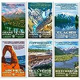 """National Park Posters - 6 Pack - Original Artwork - 13"""" x 19"""""""
