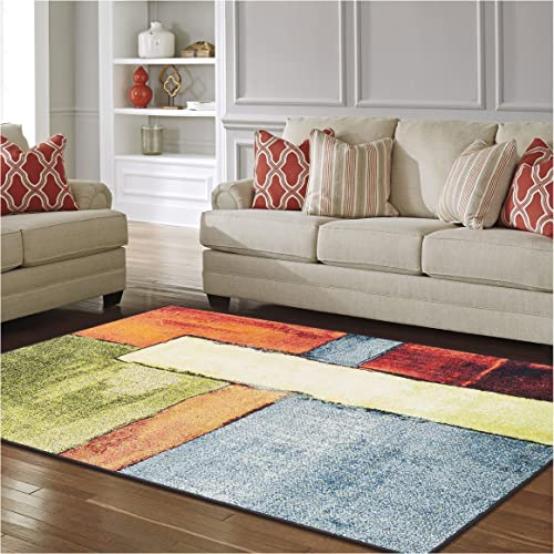 Superior Lilith Collection, 10mm Pile Height with Jute Backing, Quality and Affordable Area Rugs, 8 x 10 Multi Color