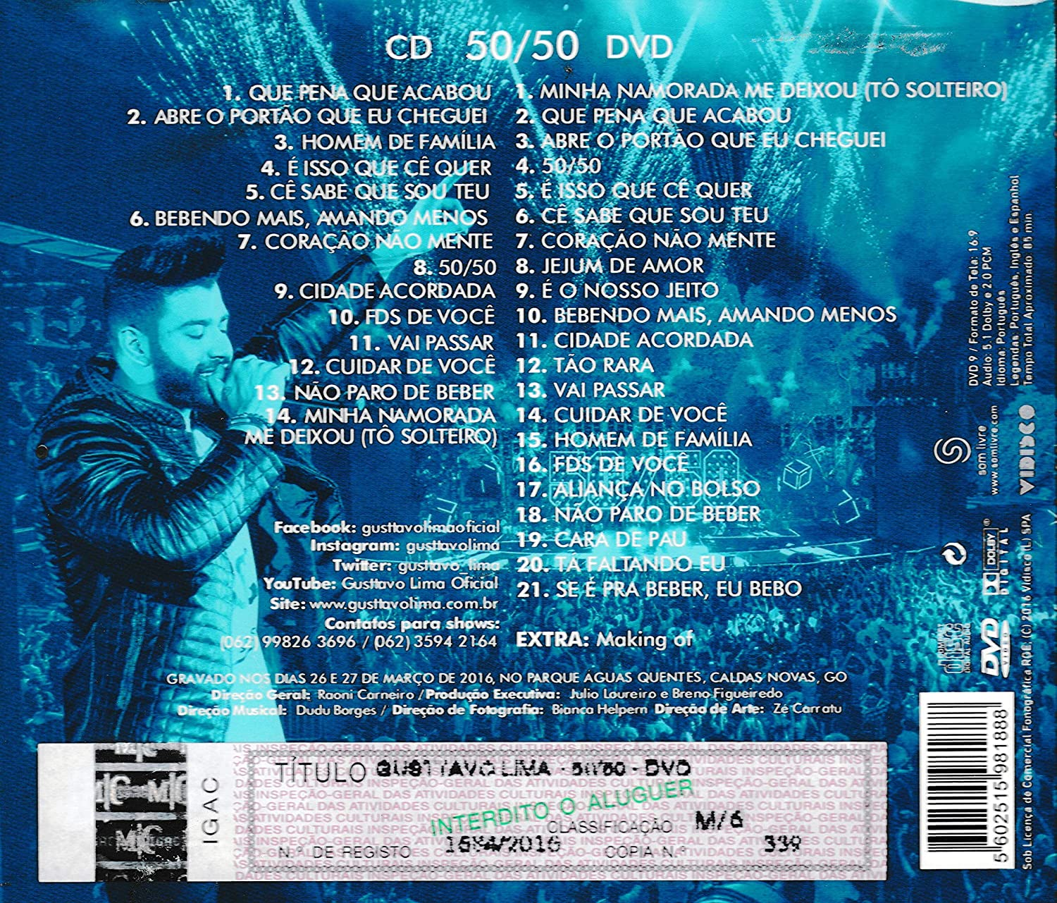 download cd gusttavo lima 50 50