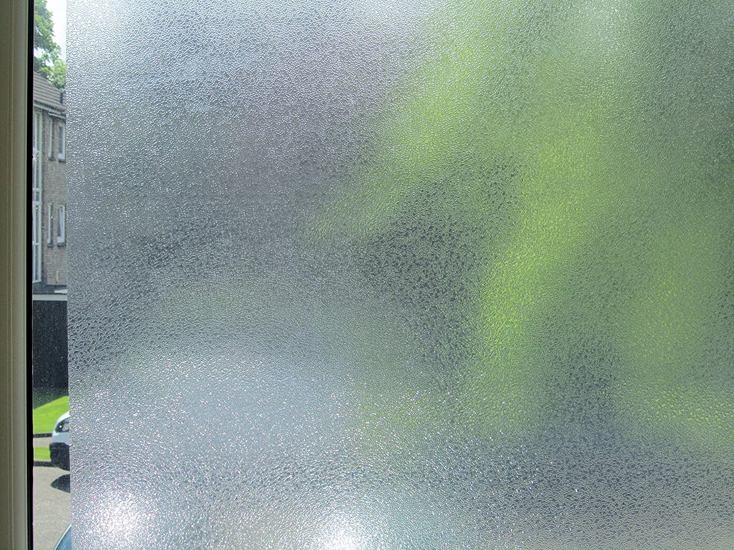Embossed Premium Quality Frosted 3D Effect REUSABLE Decorative Window Privacy Static Film Bubbles Design Stained Glass Effect 1m x 90cm