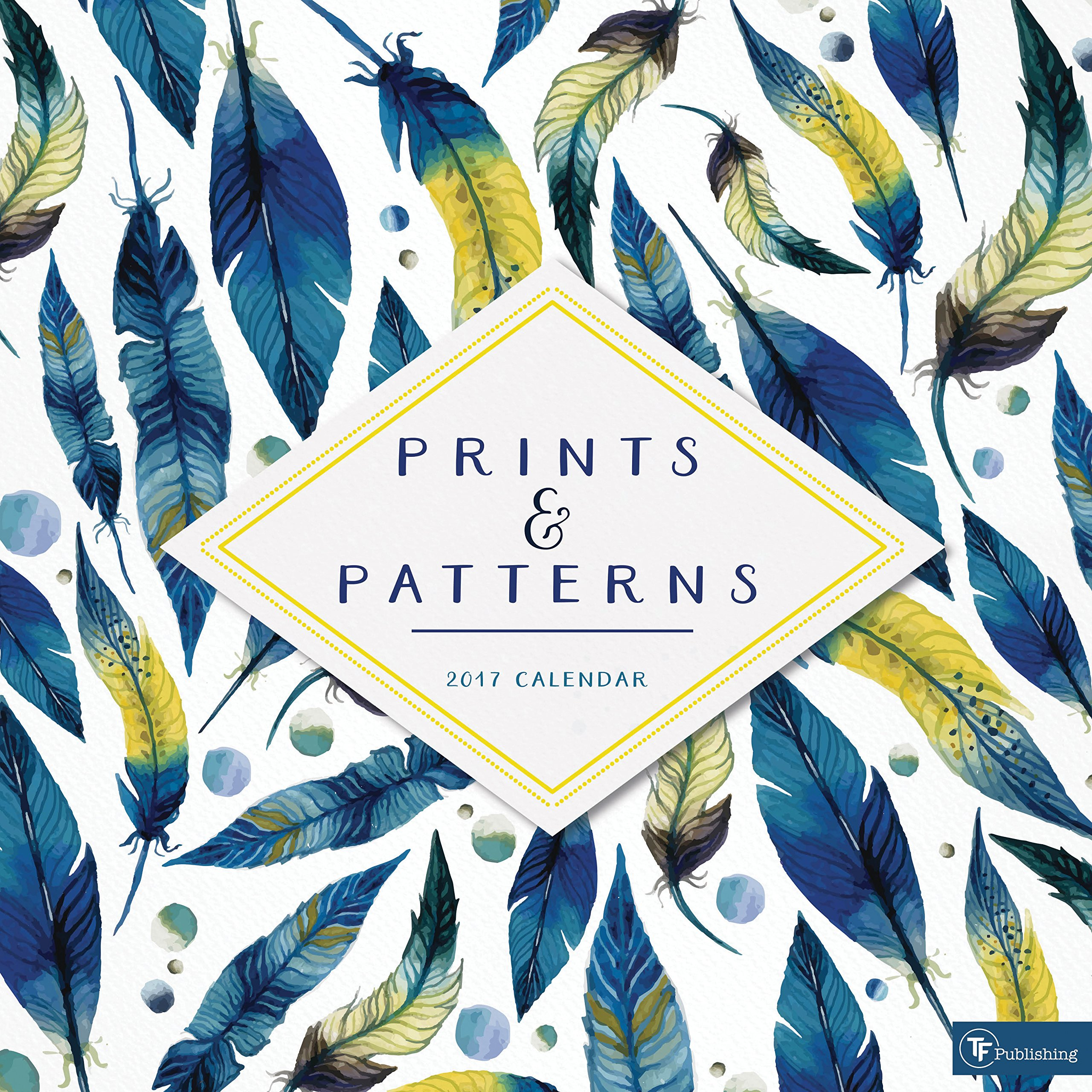 2017 Prints and Patterns Wall Calendar