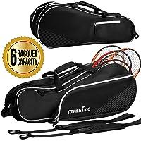 Athletico 6 - Bolsa de tenis para raquetas, acolchado para proteger raquetas y ligeras, para jugadores de tenis…