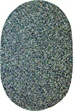 Sabrina Tweed Indoor/Outdoor Oval Braided Rug, 2 by 3-Feet, Denim