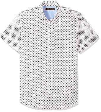 f58433bff7d4a Amazon.com: Ben Sherman Men's Short Sleeve GEO Floral Print Shirt ...