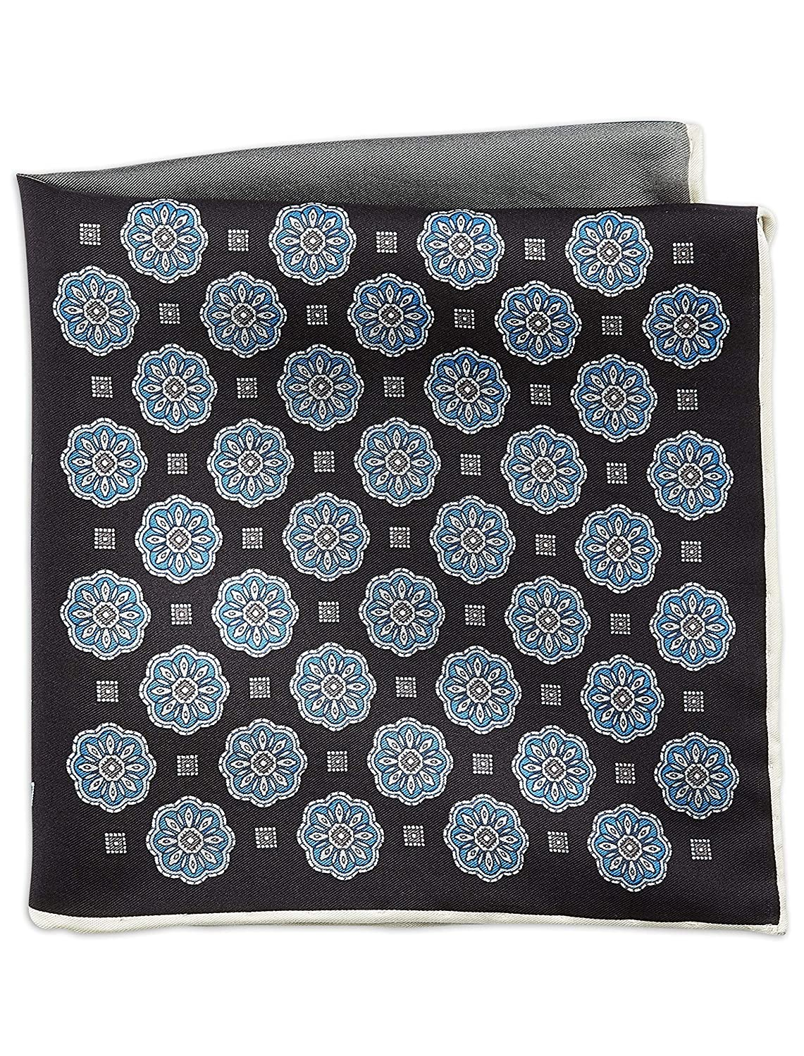 Rochester by DXL Big and Tall Designed in Italy Medallion Pocket Square