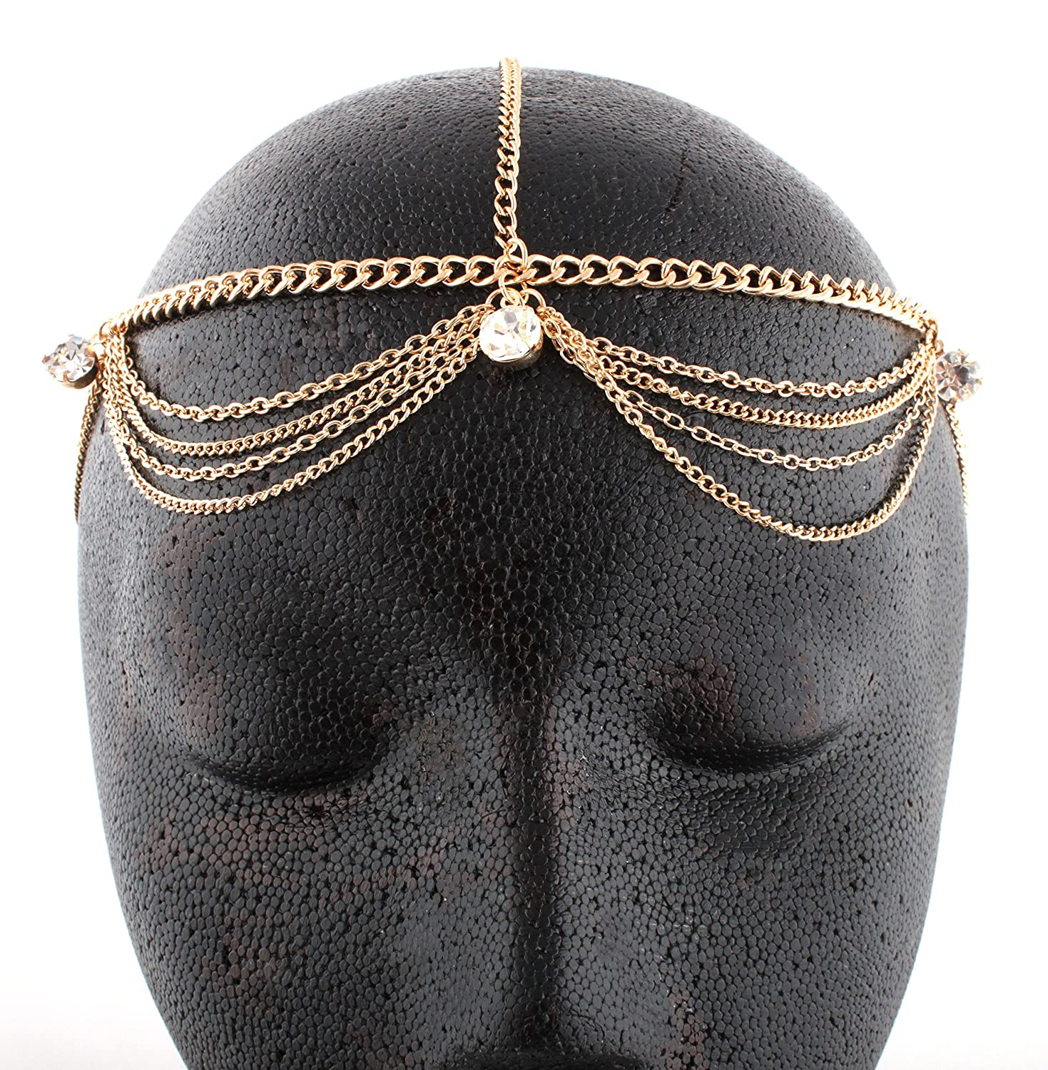 Goldtone Metal Head Chain with Studs (J-20)