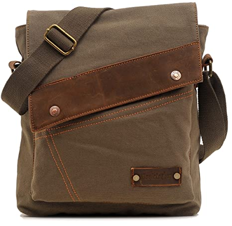 Magictodoor Small Vintage Canvas Messenger Bag Ipad Shoulder Bag Travel  Portfolio Bag AG9088Lv.ca  Amazon.ca  Luggage   Bags 0687d4b13d0af