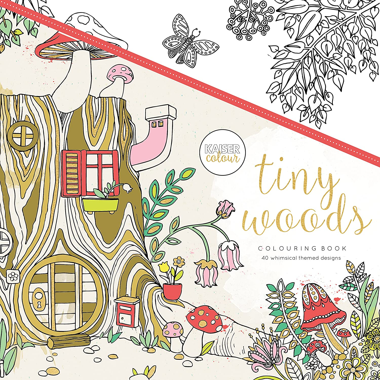 Kaisercolour Perfect Bound Coloring Book-Tiny Woods Kaisercraft KACL505