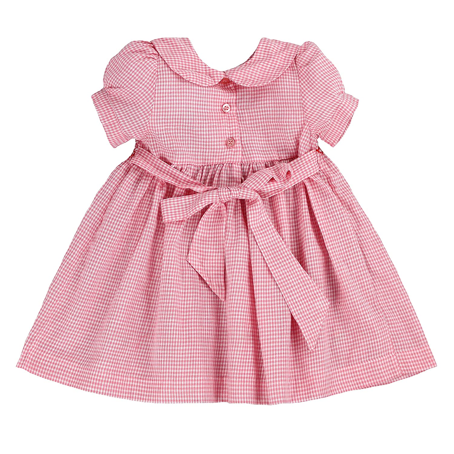 d71df29d5484 Amazon.com: sissymini - Infant and Toddlers Hand Smocked Dress | Primrose  Purcell's Plaid in Pastel Pink 24M: Clothing