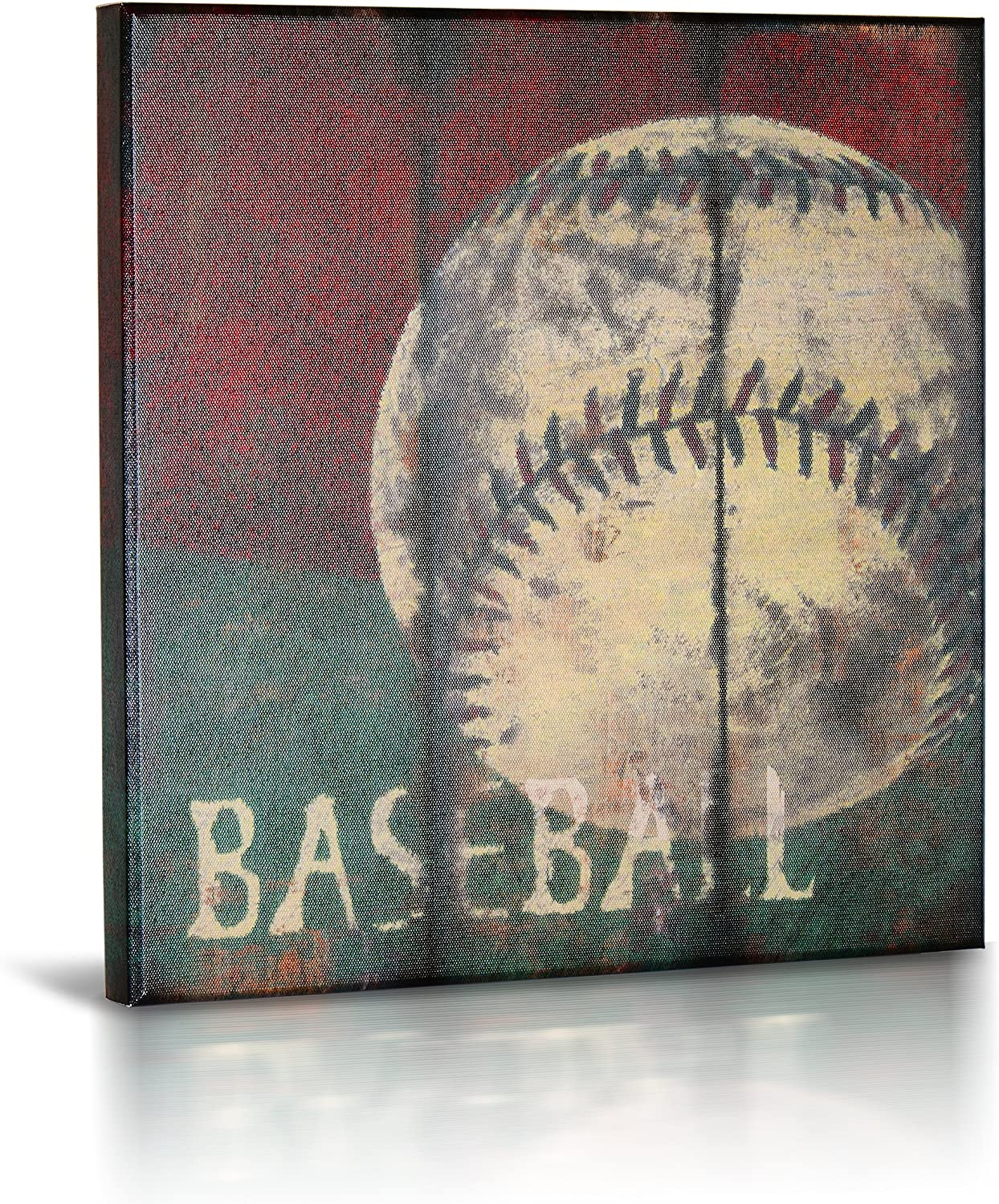 """Baseball Sports Canvas Wall Art 