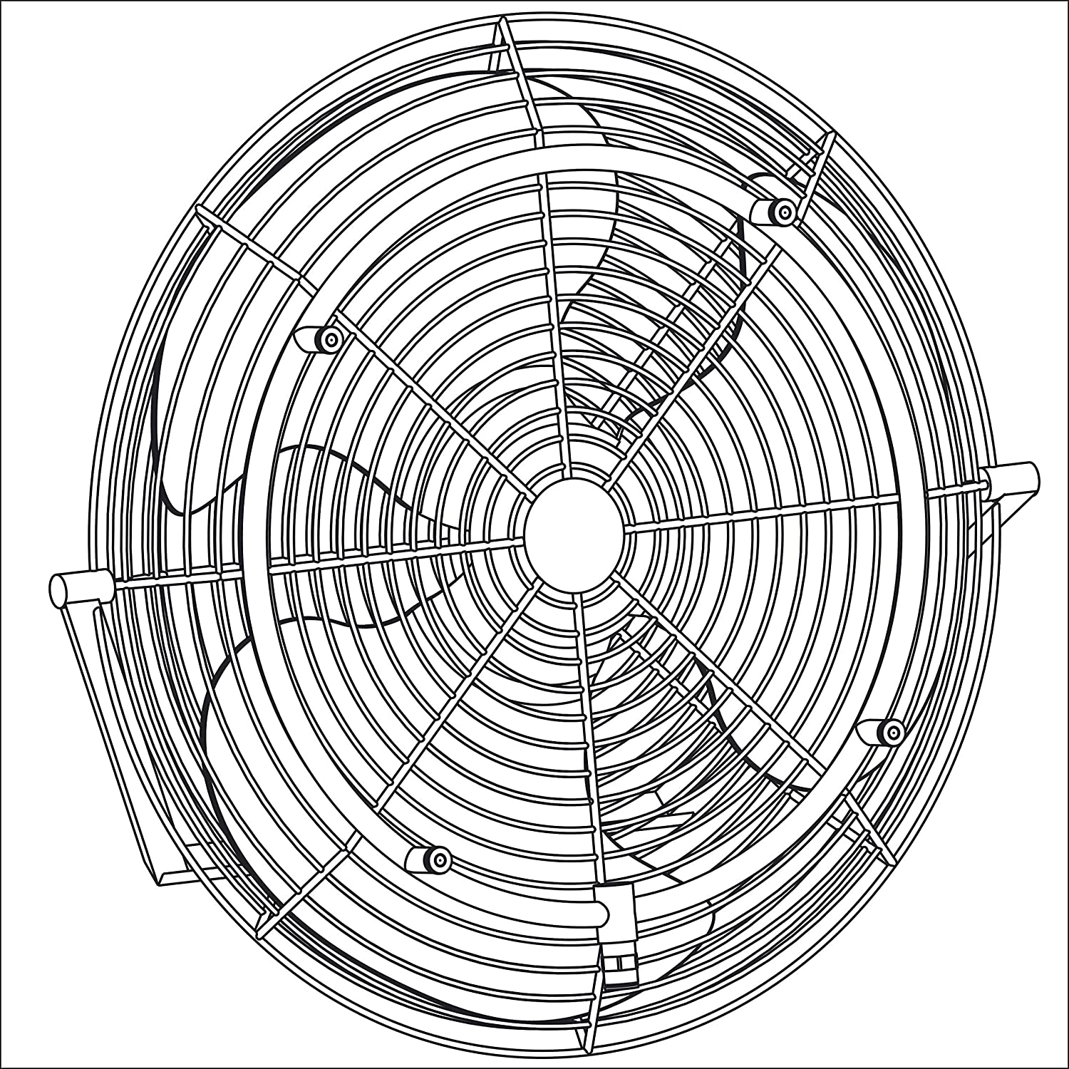 mistcooling Stainless Steel Fan Misting Ring 15 Fan 6 Nozzles-Recommended for Fans with 18-20 Diameter Shinny Silver