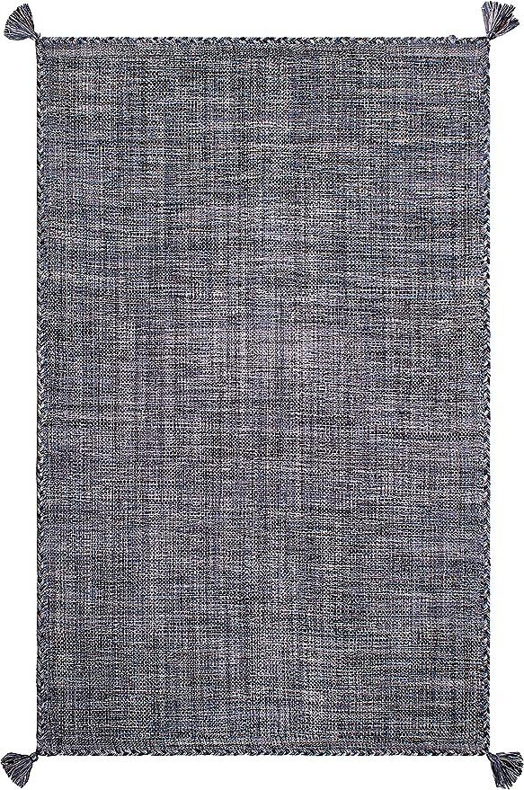 FAB HAB Alfombra de algodón Reciclado, Asana - Indigo (150 cm x ...