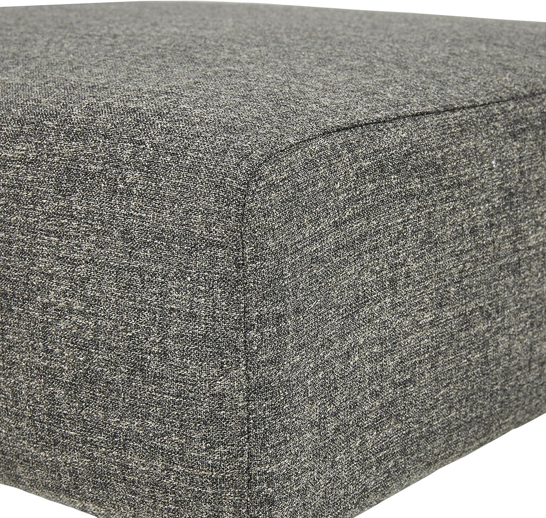 larghezza 160 cm stile mid-century Marchio  -/Rivet colore grigio chiaro panchina ottomana modello Ava
