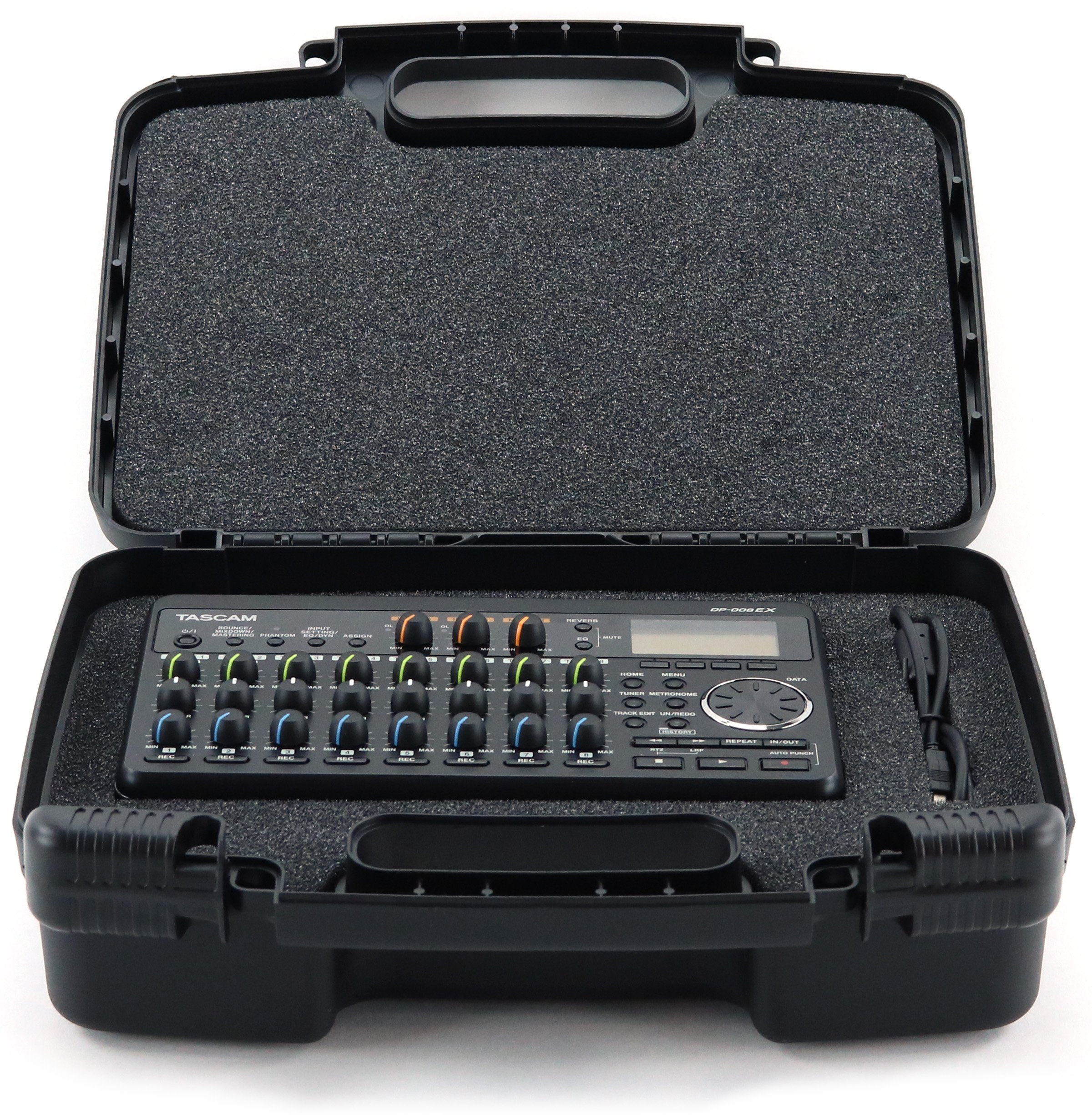 Life Made Better Storage Organizer - Compatible with TASCAM Dp-008ex, DP-006 Digital Pocket Studio Multi-Track Recorders And Accessories- Durable Carrying Case - Black