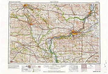 Amazon Com Yellowmaps Davenport Ia Topo Map 1 250000 Scale 1 X 2